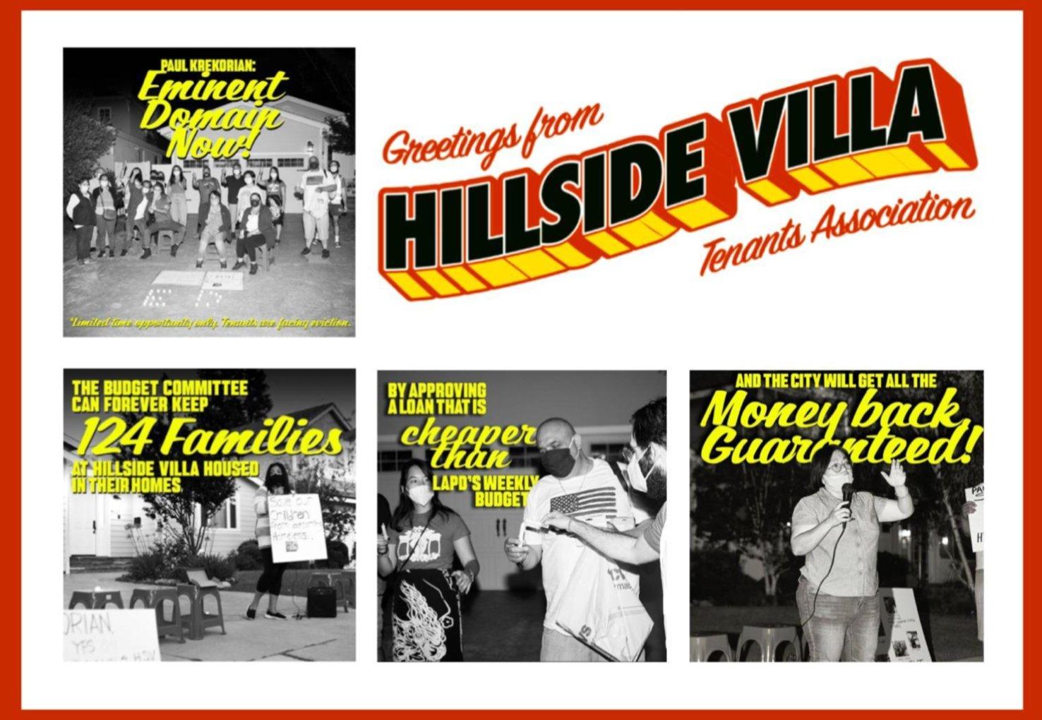Greetings From Hillside Villa Tenants