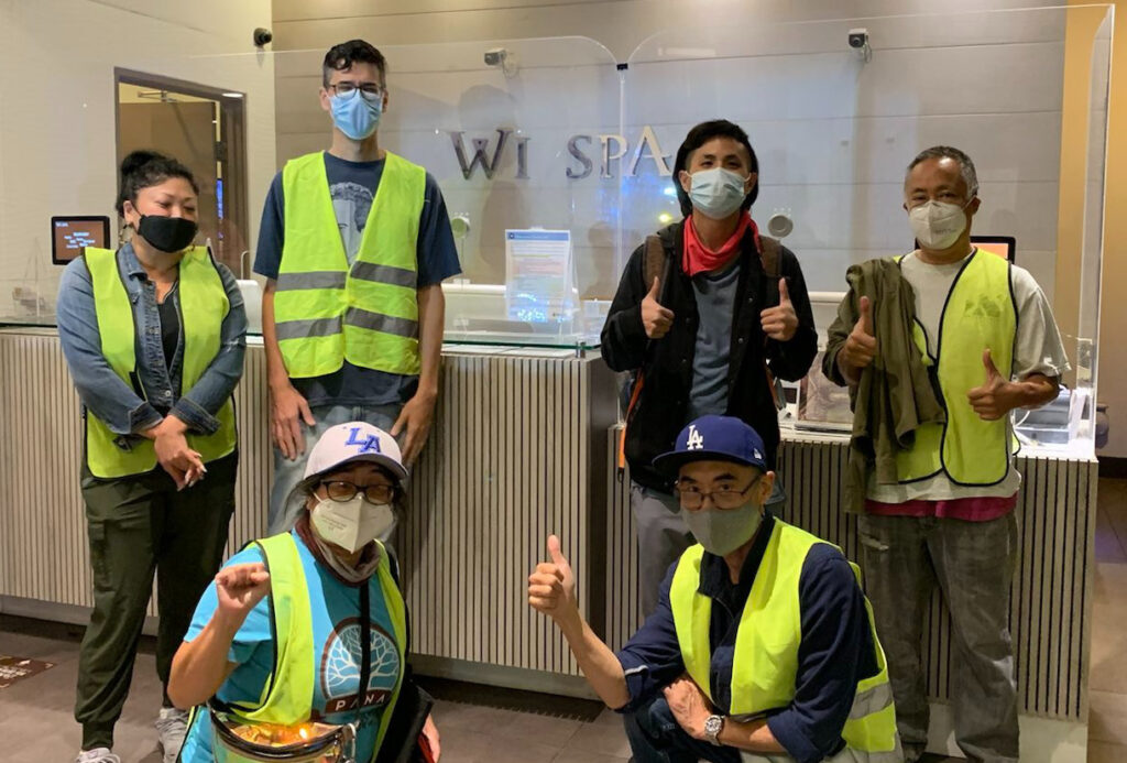 Neighborhood Safety Companions Deliver Safety Supplies to Wi Spa Staff