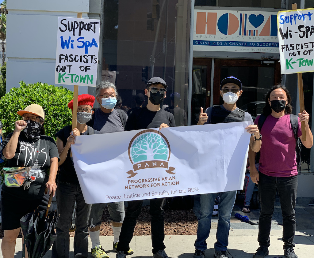 July 30, 2021 PANA Joins Counter Protest to Defend Wi Spa
